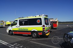 (coghilla) Tags: rescue fire airport exercise aviation police ambulance qld queensland asa operation electra afp qps ool arff qas airservicesaustralia aviationrescuefirefighting goldcoastairport ybcg qfrs