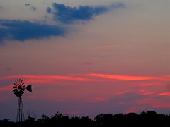 Sunset 8-24-13 (therealjoeo) Tags: sunset summer sky windmill clouds texas dusk taylor