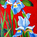 """Blue Iris,"" acrylic, Kenneth Wiley"