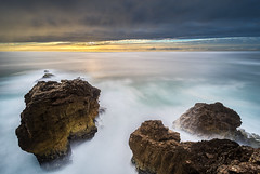 Portugal: Nazar #EXPLORE 4-10-2013 (Simone Angelucci) Tags: ocean sunset portugal tramonto oceano portogallo nazar scogli d600 mygearandme