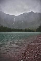Lapping (thebrightguy) Tags: lake snow mountains nature water rural nikon montana shore glaciernationalpark peaks avalanche d600