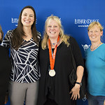 """<b>Aquatic Center Dedication of Service_100413_0266</b><br/> Photo by Zachary S. Stottler Luther College '15  Above: Christine Magnuson, two time Olympic Silver Medal winner, poses with various fans at the Luther College Service of Dedication for the new Aquatic Center.<a href=""""http://farm6.static.flickr.com/5514/10095977104_3e5cff17cf_o.jpg"""" title=""""High res"""">∝</a>"""