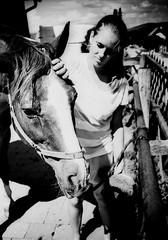 IMG_0011 (froher.ernst) Tags: old bw horse film analog diy kodak lomolca rodinal russian cyrillic pferd 1100 standdevelopment shootfilm standentwicklung horsephotography technipan