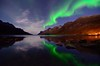 Symmetry in the fjord (John A.Hemmingsen) Tags: longexposure night landscape nikon nordnorge northernlights auroraborealis ersfjordbotn ostrellina tokina1116