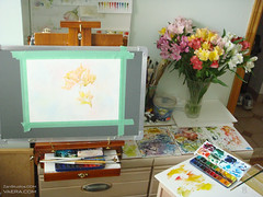 Vertical Painting Setup (KAI | ZAN57) Tags: watercolor studio artsupplies sketchkit