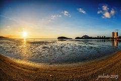 Perspective Of A Fish (orgazmo) Tags: landscapes nikon seascapes sunsets lowtide nikkor guam tamuning waterscapes 105mmf28gfisheye d800e