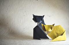 Origami Cats - Kunihiko Kasahara (Masamune81) Tags: cats origami gato papel papiroflexia kasahara kunihiko