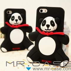 Moschino Panda iPhone 5S iphone 4S Silicone Case (sophietu024681) Tags: panda case moschino 4s silicone iphone 5s