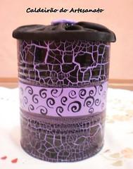 Artesanato em Lata (Caldeirão do Artesanato) Tags: portatreco latadecorada artesanatoemlata reciclandolata