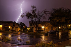 Lightning Bolt with Fisheye Lens (Fred Morledge) Tags: sky storm rain weather clouds lens long exposure sigma fisheye shutter bolt fred lightning 2013 photofm morledge