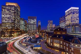 Tokyo Station, West in Twilight