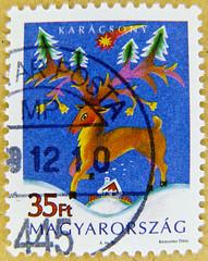 great xmas stamp Hungary  christmas Magyar Posta 35 ft forint  frimrker Ungarn Briefmarken levlblyeg Magy