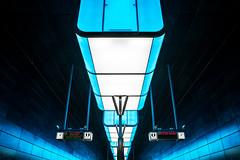 Hamburg, HafenCity U-Bahn (Fotograf aus Passion.) Tags: light schilder train germany underground de deutschland lampe licht fuji hamburg tram steine ubahn fujifilm alexander blau bahn farbe dunkel beleuchtung froschperspektive linien düster xe1 alpha4 harbich xf1855alex