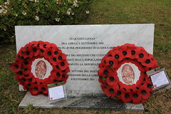 Wreaths at the former PG 49 PoW camp