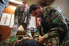 131202-A-YW808-034 (U.S. Department of Defense Current Photos) Tags: usa afghanistan army centcom firstaid afg afghans medics ussoldiers tourniquet paktia oef operationenduringfreedom 101stairbornedivision isaf medicaltraining afghannationalarmy cjtf rceast regionalcommandeast paktiyaprovince fobthunder 982ndcomcam jcccproduct 801stbsb comcamafghanistan ryandgreen spcryandgreen 4thbct101stdiv ana203corps afghanlocalnational
