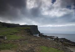 The cliffs at Vágseidi (Vida Morkunas (seawallrunner)) Tags: cliff green island landscapes europe quiet peaceful nopeople lonely barren faroeislands cwall faroes notrees suduroy
