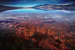Secrets of the Owens (DM Weber) Tags: california pink red lake mountains reflection water canon landscape nevada salt sierra brine bacteria owens inyo halophilic halobacteria eos5dmk2 psa148 dmweber