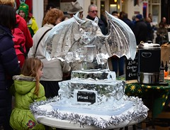 Devil devil (Nanny Bean) Tags: york angels devil icesculpture thequarter christmasfestival pivni worldbeers glacialart festivaloftheangels