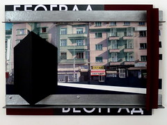 Beograd ( 2013 ). Plexy, carton, film plastique, peinture, photo, boulons. (emmanuelviard75) Tags: photo couleurs carton belgrade stucture transparence murile plexy opacité cornière