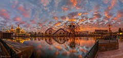 A Pierfect Day... (Ring of Fire Hot Sauce 1) Tags: sunset reflection water clouds mickeymouse disneycaliforniaadventure paradisepier