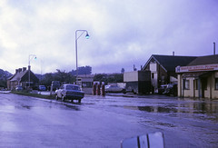 A5 flooded south of Dunstable 1968 (Pentakrom) Tags: flood 1968 a5 dunstable markyate