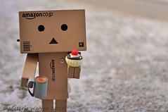Even little cardboard robots like tea and cake (Vicktrr) Tags: anime cute robot spider amazon innocent manga cardboard dalek curious parcel audi danbo audir8