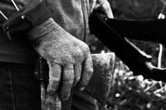 Hard working (Giuseppe Cillis) Tags: wood old italy work word ancient grandfather hard basilicata axe southitaly