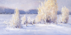 Oil Painting (Bonnie Bowne) Tags: art landscape artwork hoarfrost paintings oil oilpaintings oils snowscenes