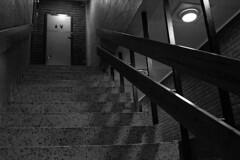 School stairs 01:00 (IngarRubach) Tags: door school white black norway stairs canon indoor 2470mm 550d