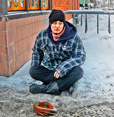 Better Days Ahead,  Shane - Ottawa 01 14 (Mikey G Ottawa) Tags: street city people ontario canada sad shane ottawa over hard gone finished pan difficult past tough numb panhandle shannel hardtimes hardtime mikeygottawa