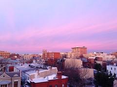 wispy purple sky (ekelly80) Tags: city morning pink roof winter light sky sun colors clouds sunrise washingtondc morninglight dc view purple january2014