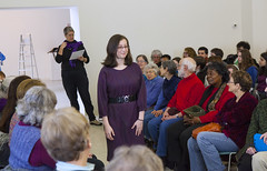 20140202__MG_4895_Yarn_To_Garment (Pat Kilkenny) Tags: ohio color wool fashion yarn fabric weaving weave oberlin garment 2014 oberlincollege 13thannual betsybruce yarntogarment