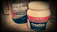 Creatine and Protein Powder