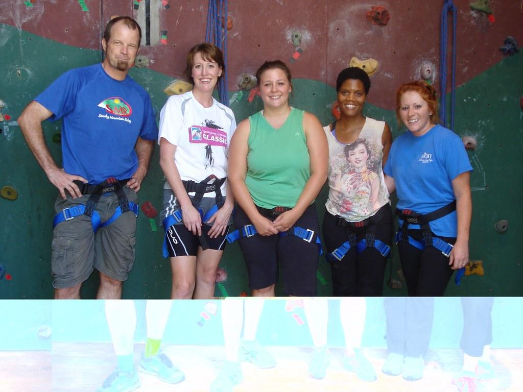 DC and staff rock climbing 022