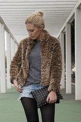 Back to Grunge (Doll Actitud) Tags: winter fashion blog outfit coat style blogger leopard ear denim cuff