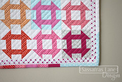 Modern Tradtional #DSTTchallenge Mini Quilt! (Sassafras Lane Designs) Tags: stella color rainbow quilt mini lane designs block dear timeless treasures sassafras churndash