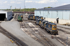 20140518_Selkirk_NY_wm (glennfresch) Tags: new york railroad ny up train scotland pacific union upstate sk cp bnsf selkirk vo csx voorheesville