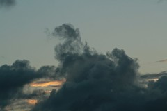 Cloudscape over Titirangi (Zelda Wynn) Tags: weather clouds auckland cumulus sunsetclouds troposphere zeldawynnphotography