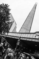 the Borough Market (Lorenzo Tombola) Tags: bw london skyscraper blackwhite fuji market fujifilm borough grattacielo shard mercato londra bianconero x100 x100s