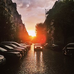 Thank you @yahootravel for the shoutout today  This was tonight's beautiful #sunset in Berlin ☔️ I love this city even on rainy days!