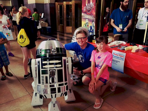 R2 Builders at Maker Faire Kansas City 2 by Wesley Fryer, on Flickr