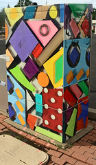 Colorful & Creative Utility Box (SA_Steve) Tags: color colour detail colors metal pattern colours creative utility colourful everyday multicolored manvillenj artlegacy colorfuil