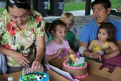 Birthday cake time 2 (Aggiewelshes) Tags: birthday july lisa birthdaycake vivian jovie 2014 merlinolsenpark