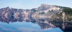 A collapsed mountain (Ben McLeod) Tags: mountain lake reflection oregon volcano nationalpark amazing craterlake