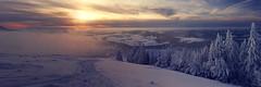 L'hiver avant l'heure (6line8) Tags: lecochet panorama stecroixlesrasses jura winter hiver neige snow sunset switzerland