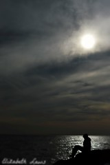 Sillouettes (Elizabeth Laws) Tags: black sillouette beach sea rocks dark thoughtful defined outdoor overcast water