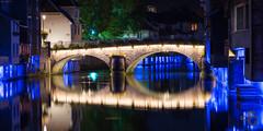 Grand pont (Stphane Gavoye) Tags: reflet france eclairage franchecomt etiquettesdemotsclsimportes lieux loue pont etiquettesdemotsclsimportes franchecomt ornans bourgognefranchecomt fr