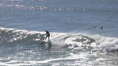 Wipe-Out! (Viejito) Tags: surfaris wipeout video man wetsuit helmet pismobeach california slo county usa unitedstates geotagged geo:lat=35138088 geo:lon=120645206 amerika amrique amrica america canon powershot s100 canons100 waterfront beach playa praia sea pacific ocean pier pacificocean surf surfer zee oceaan surfing waves golf vague ocan oceano onda blue white water wave black glistening wet suit barefoot descalzo scalzo descalo bare feet toes barfssig surfboard froth hangten tail wax leash neoprene hood