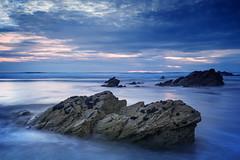 (Andy Bracey -) Tags: bracey andybracey cornwall newquay fistral fistralbeach beach rocks coast coastal landscape sea seascape water atlantic blue sunset nikon holiday nikond3s longexposure motionblur blur leefilters littlestopper