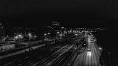 Night out view from Sankt Eriksbron (imtiazqr) Tags: bridge stockholm sankteriksplan karlberg fridhemsplan saturday view night party train mercedes bmw maserati imagine rails buildings